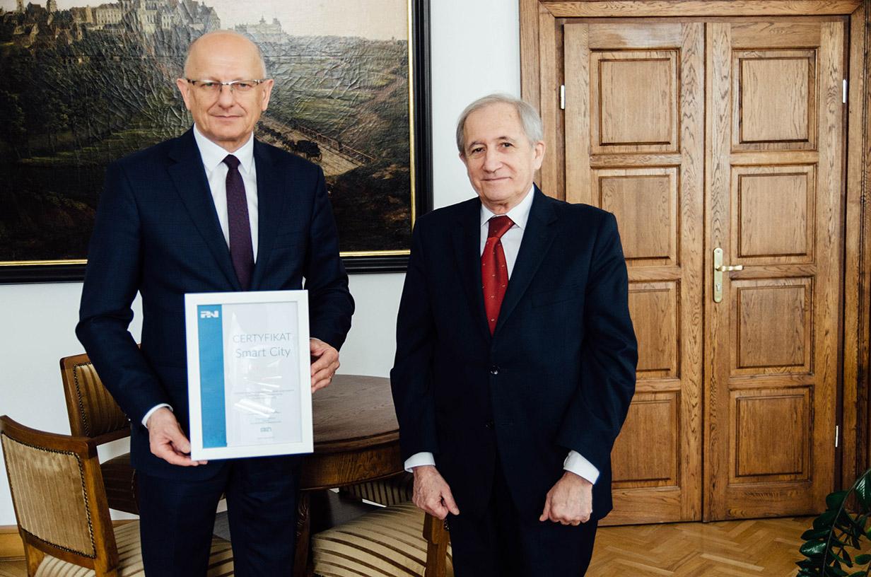 Wręczenie Certyfikatu_Prezydent Lublina i Prezes PKN