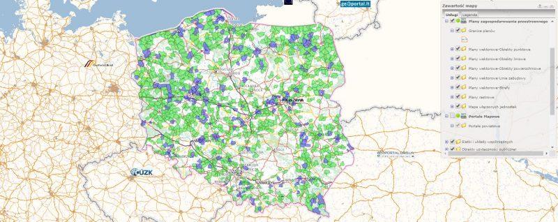 Plany zagospodarowania przestrzennego w Geoportalu