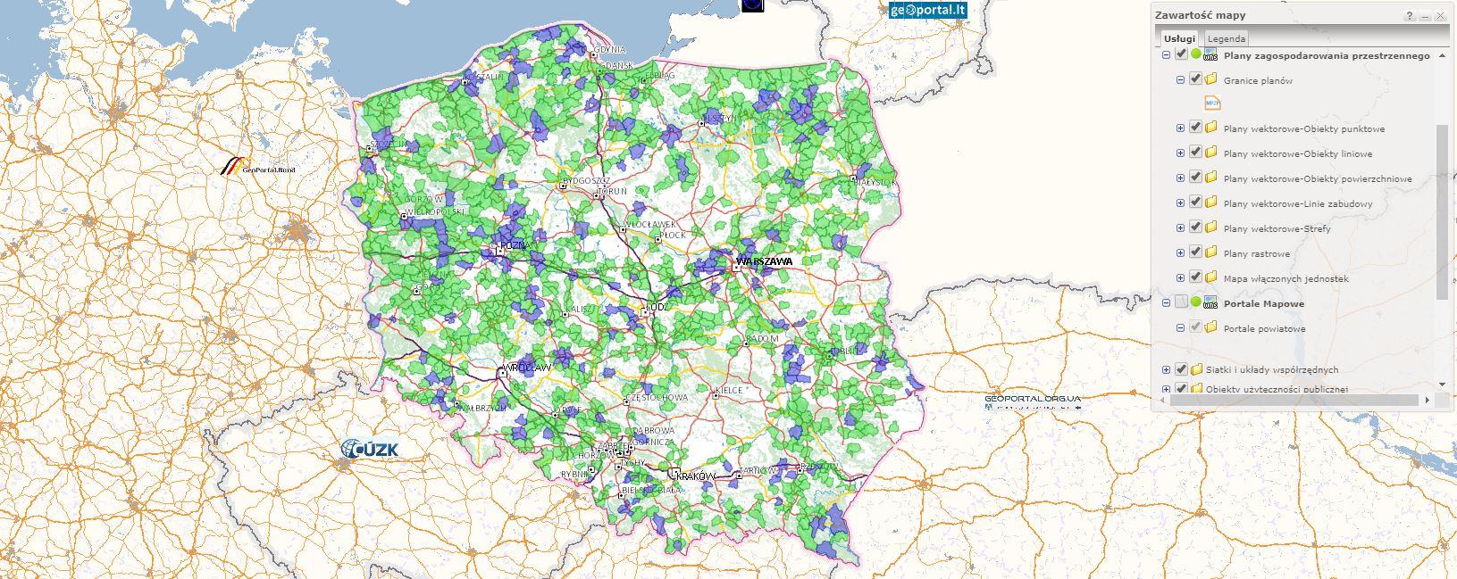Plany miejscowe Geoportal