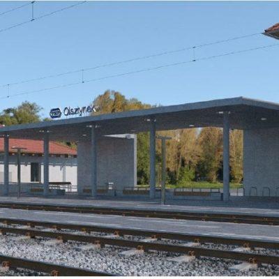 Olsztynek dworzec PKP 2