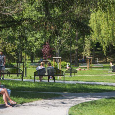 Niedzielny spacer w Parku Oruńskim