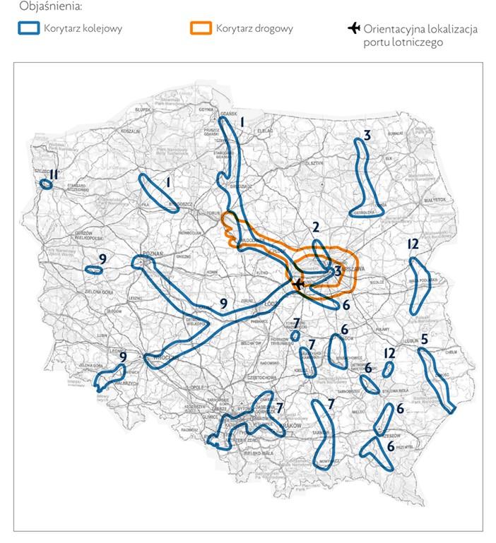 Korytarze drogowe i kolejowe w ramach projektu CPK