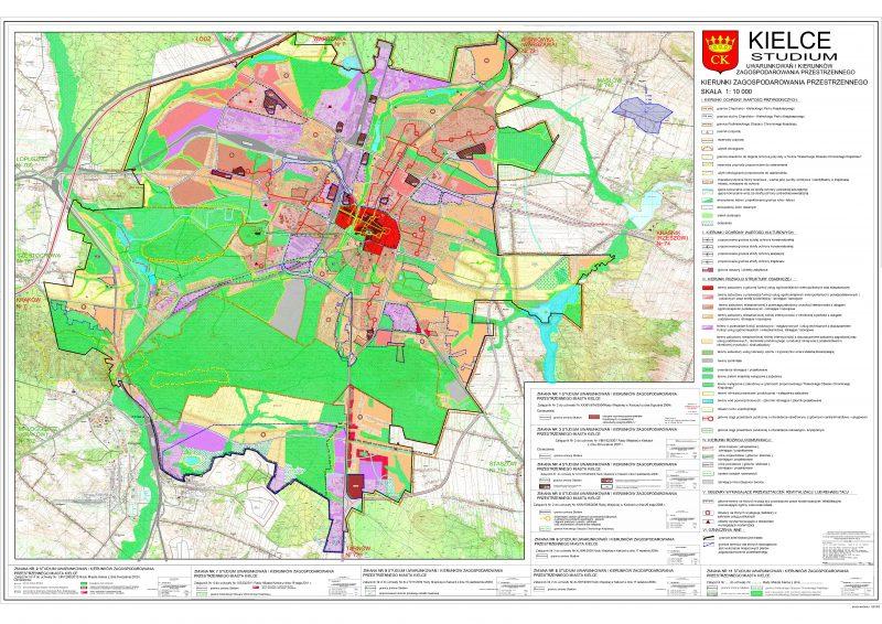 Kielce - projekt zmiany Studium z 2013 roku
