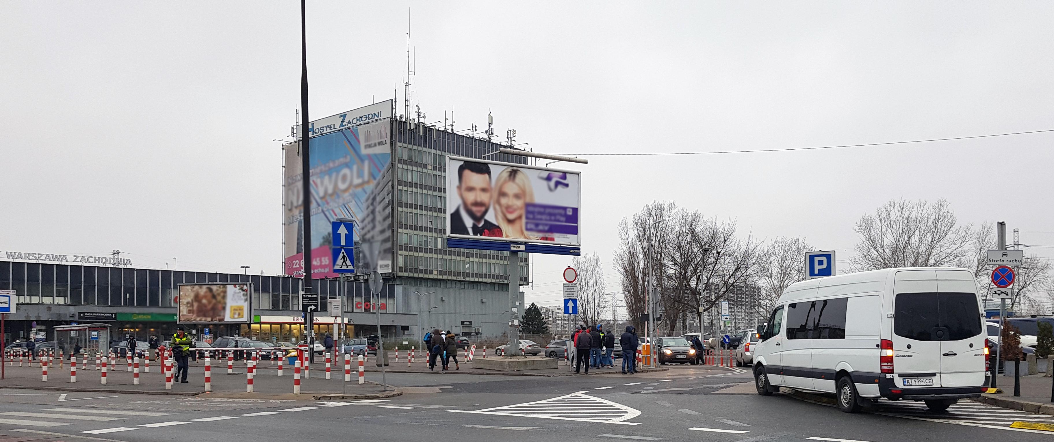 Warszawa reklamy zachodni