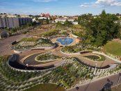 zagospodarowanie części Jaworznickich Plant z wodnym placem zabaw, autorstwa RS+ Robert Skitek