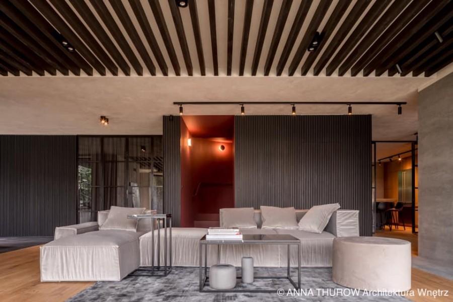 Eleganckie wnętrze domu z industrialną nutą w Szczecinie, Anna Thurow Architektura Wnętrz