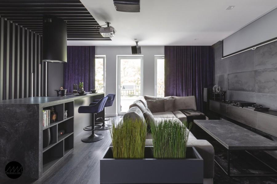 Męski wnętrze mieszkania w Poznaniu, Mandalinci Studio