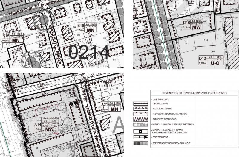 Linie zabudowy planu dla Wierzbna