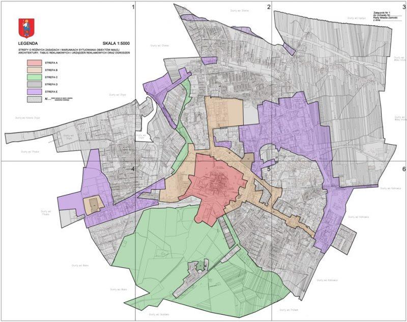 Podział na strefy w projekcie zamojskiej uchwały krajobrazowej