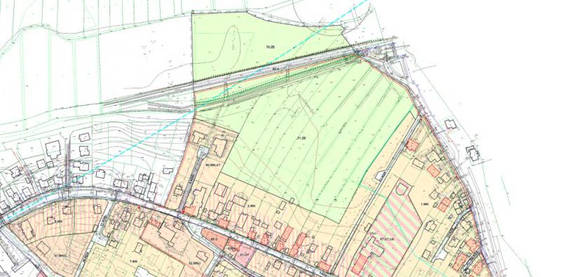 Wycinek planu miejscowego wsi Mechelinki