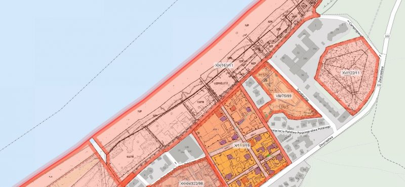 Wycinek z planów miejscowych Międzyzdrojów | źródło: SIP miasta