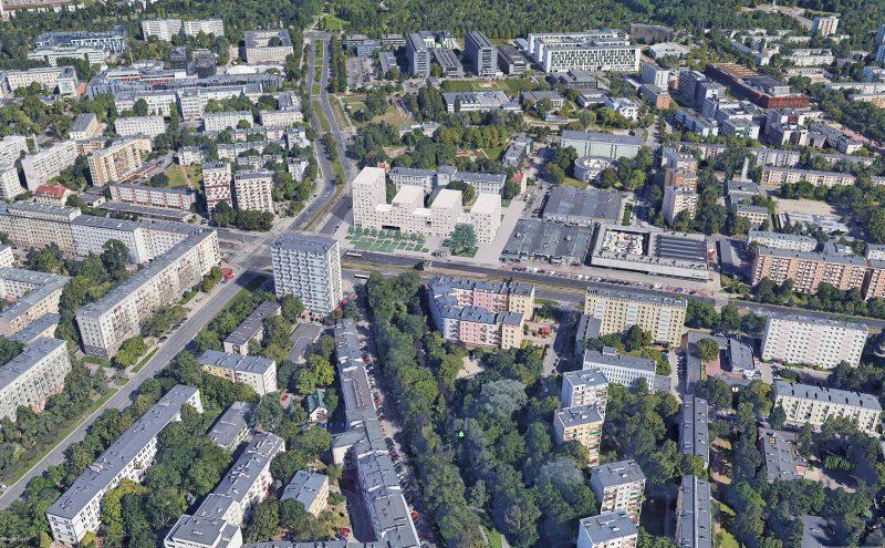 Wizualizacja budynku TBS na warszawskiej Ochocie   wiz. JEMS   za: wniosek w ramach specustawy mieszkaniowej