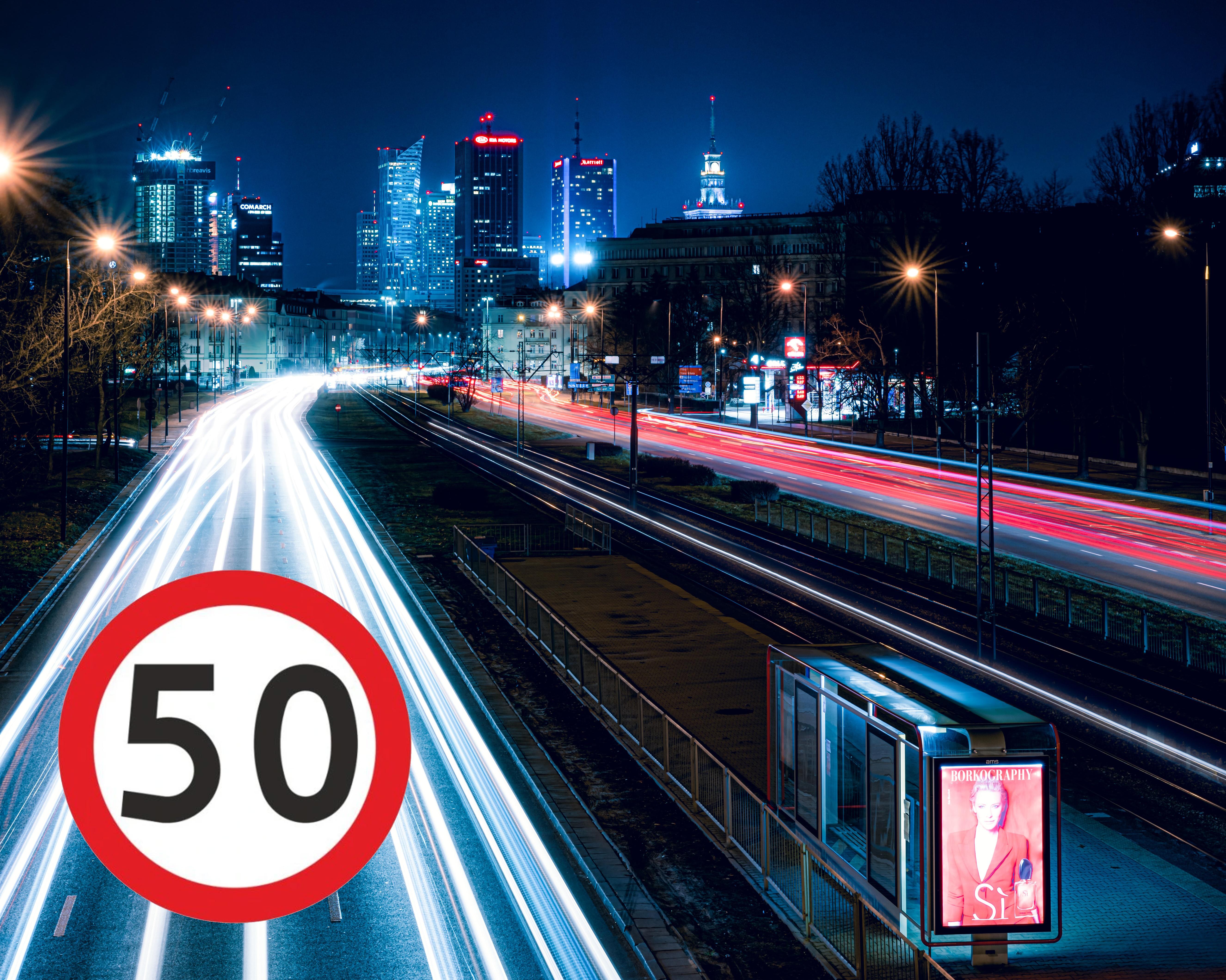 Warszawa 50 ograniczenie