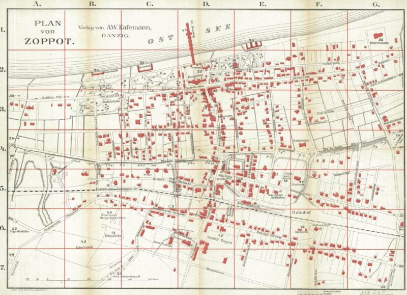 Plan Sopotu z okresu ok. 1901 roku