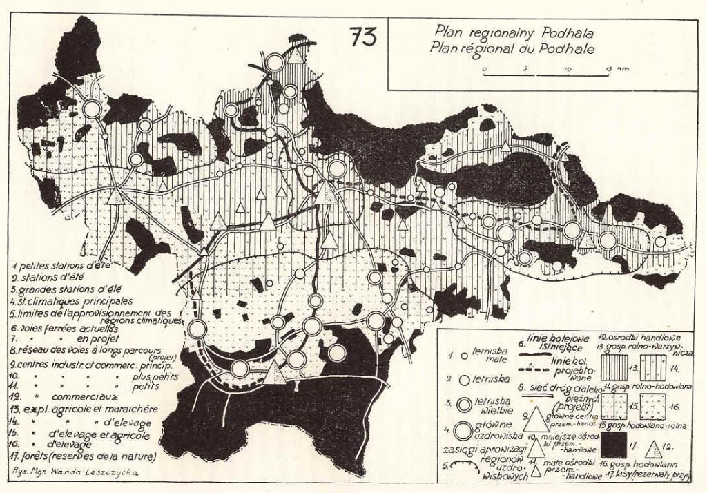 Plan regionalny Podhala, źródło: http://www.geo.uj.edu.pl/opracowania/historia/8_planowanie_przestrzenne.htm