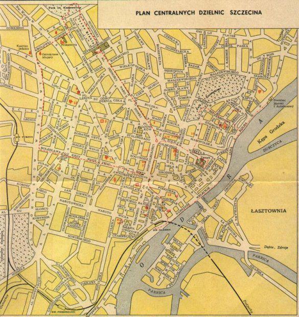Plan szczecina 1960, źródło: http://sedina.pl/wordpress/index.php/2004/10/28/nowa-tosamo-szczecin-1945-1970-odcinek-4-polacy-mieszkacy-szczecina/