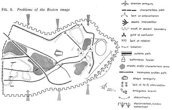Mentalna mapa, źródło: http://architectureandurbanism.blogspot.com/2010/09/kevin-lynch-image-of-city-1960.html