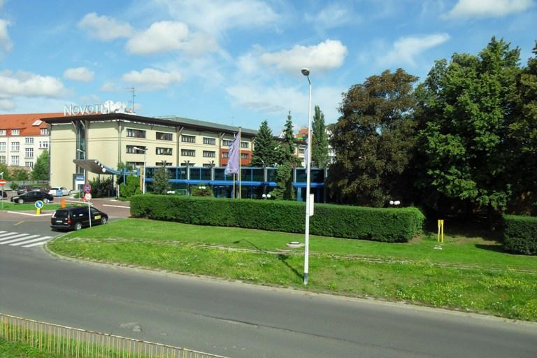 Budynek hotelu Novotel na gdańskiej Wyspie Spichrzów