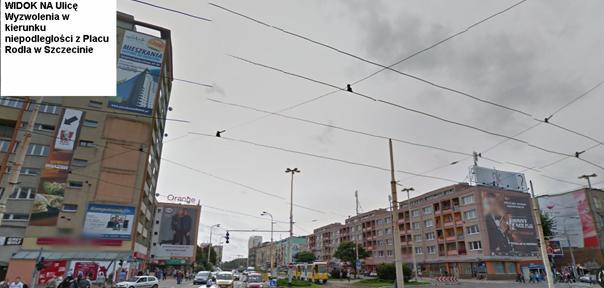 Boczne elewacje zabudowy mieszkaniowej w centrum Szczecina