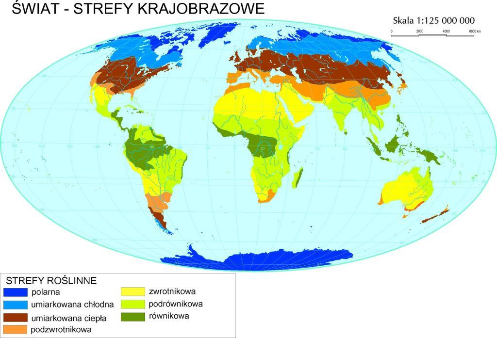 Rysunek 1. Strefy krajobrazowe na świecie (źródło: http://www.geo.uj.edu.pl/zaklady/zgf/dydaktyka/3.jpg)