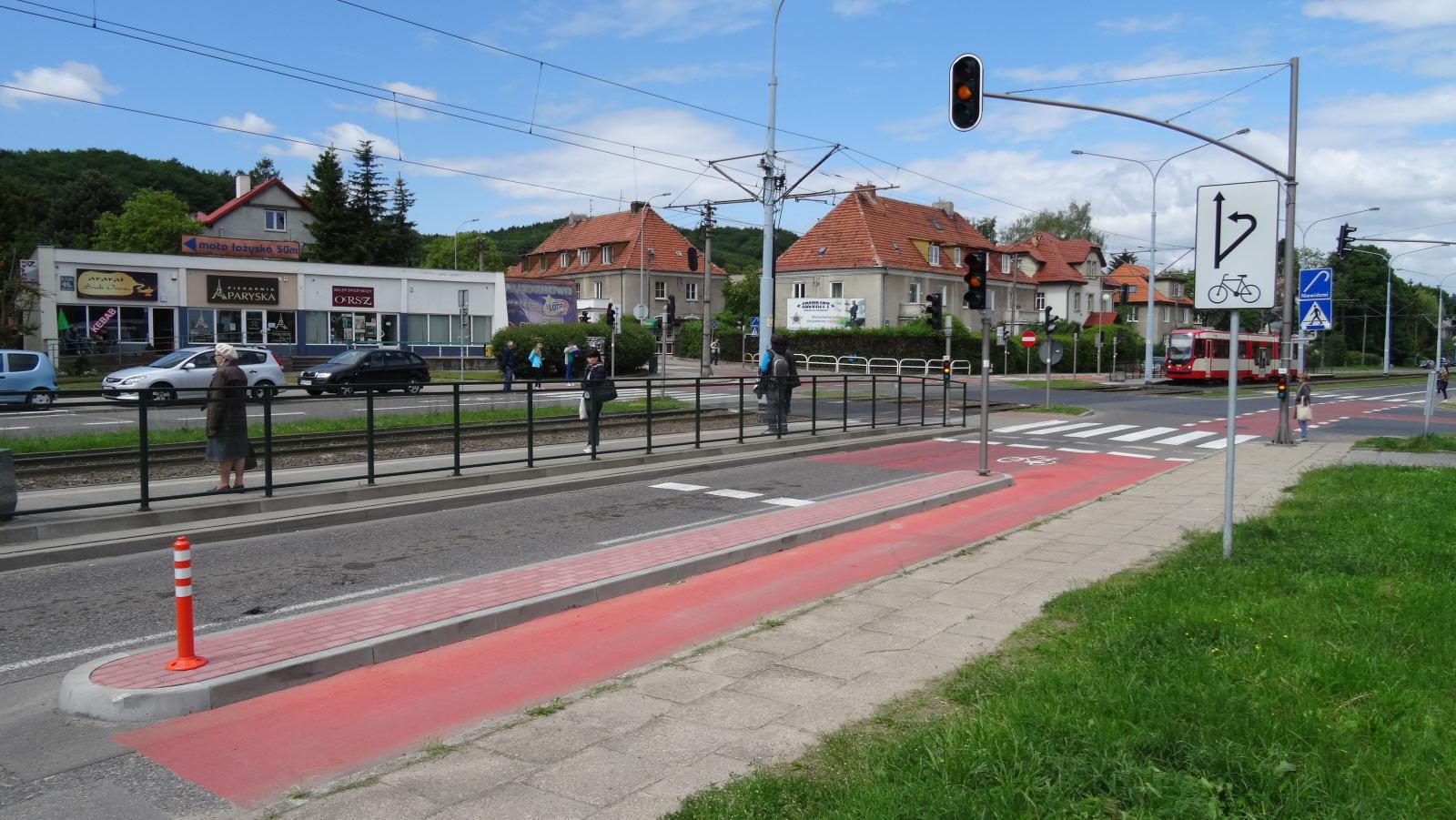 Śluza rowerowa Gdansk Wita_Stwosza_Bazynskiego