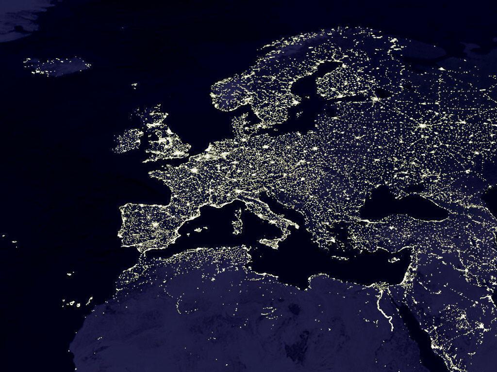 Europa Nocą / NASA
