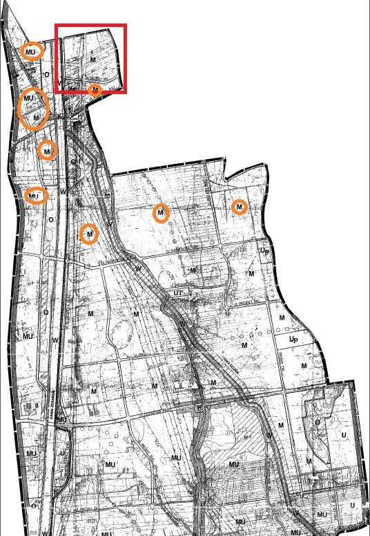 Miejscowy plan zagospodarowania przestrzennego wraz z zaznaczonymi sąsiadującymi potencjalnymi terenami mieszkaniowymi / źródło: mapa.umwarszawa.pl