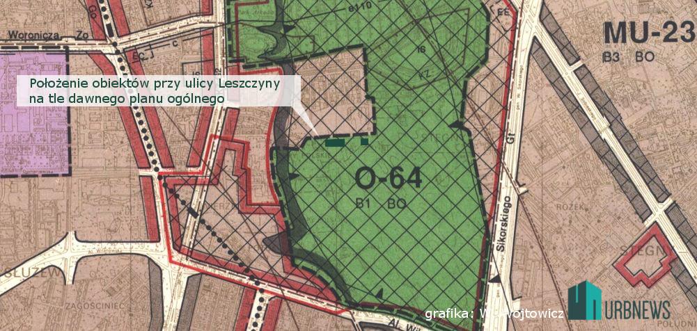 Warszawa Leszczyny plan ogólny leszczyny