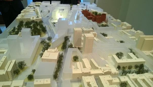 Nowe centrum Łodzi - makieta