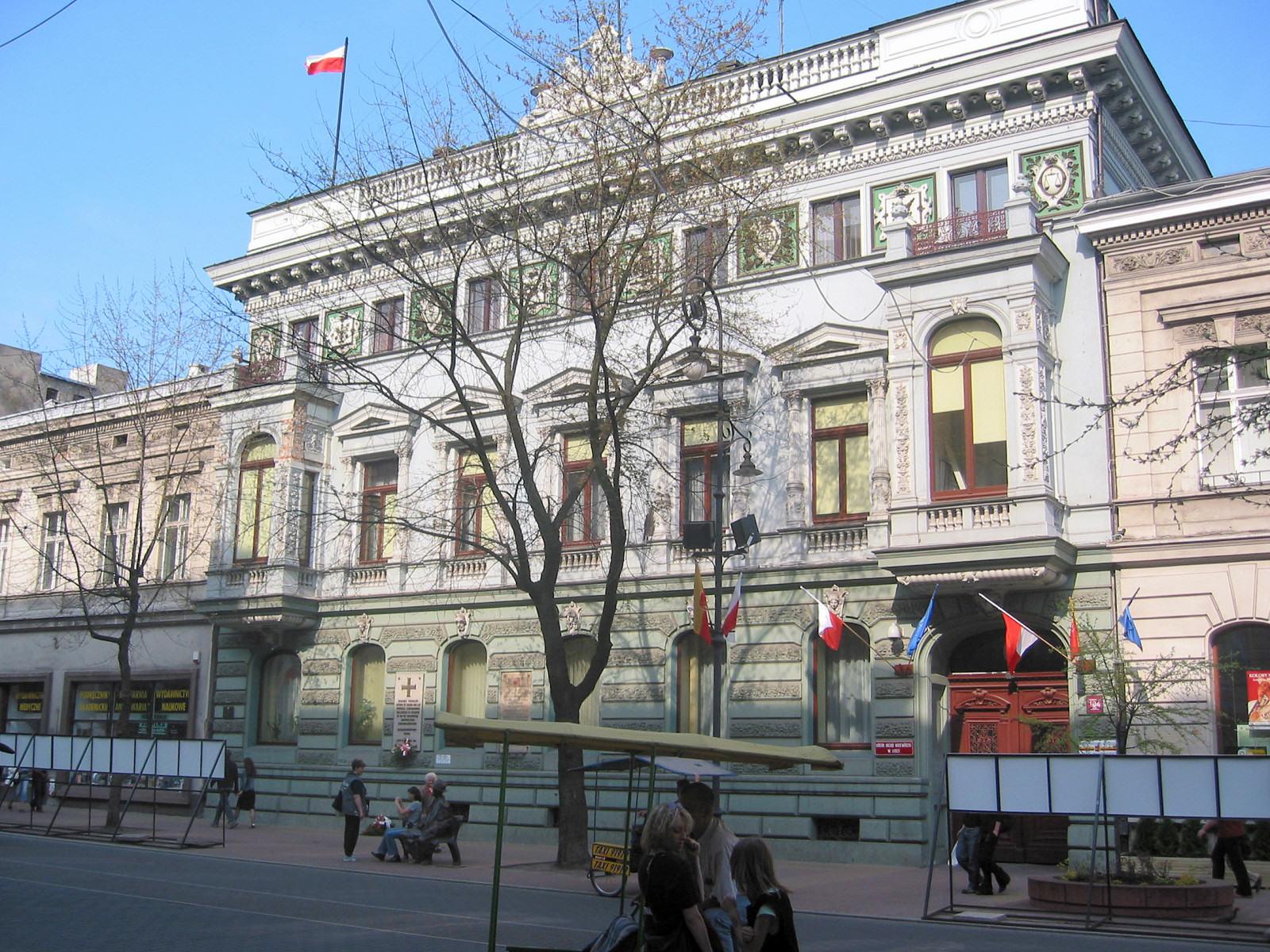 Urząd Miasta Łodzi. fot: Polimerek / Wikimedia Commons CC BY-SA 3.0