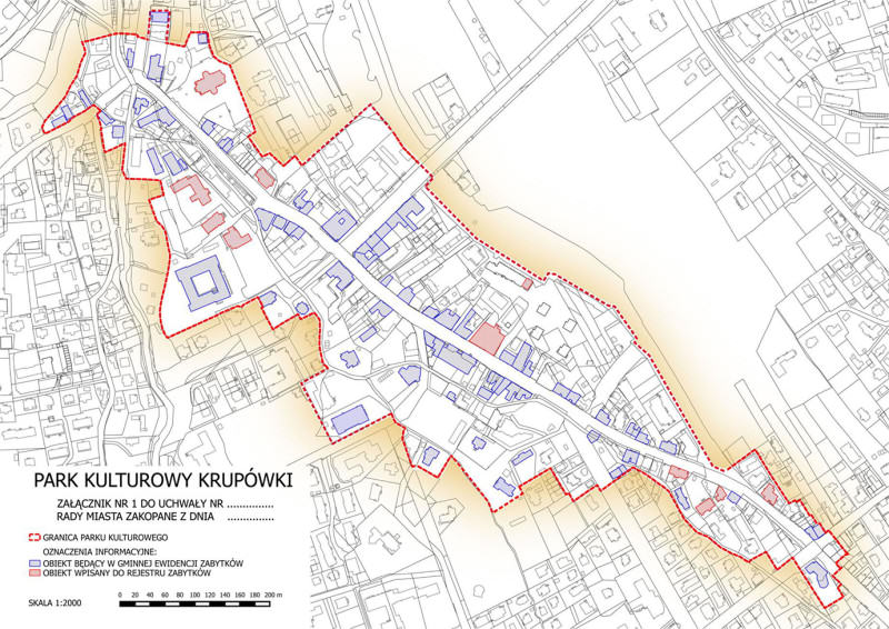 Obszar Parku Kulturowego Krupówki ze Stanowiska Rady Miasta Zakopane z dnia 31 lipca 2014