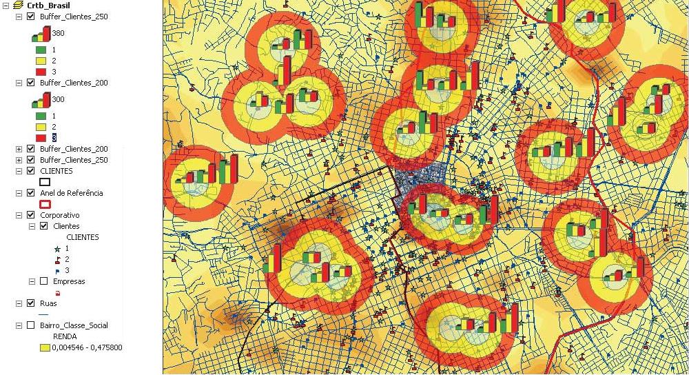 Przykład analizy geomarketingowej. Źródło: Esri.com