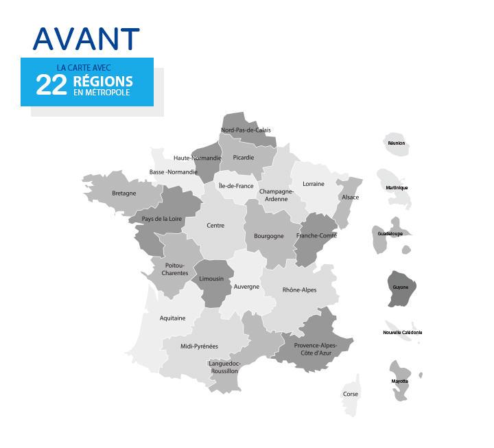 Obecny podział administracyjny Francji