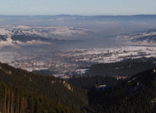 Smog nad Zakopanem - źródło-  www.ziemianarozdrozu.pl