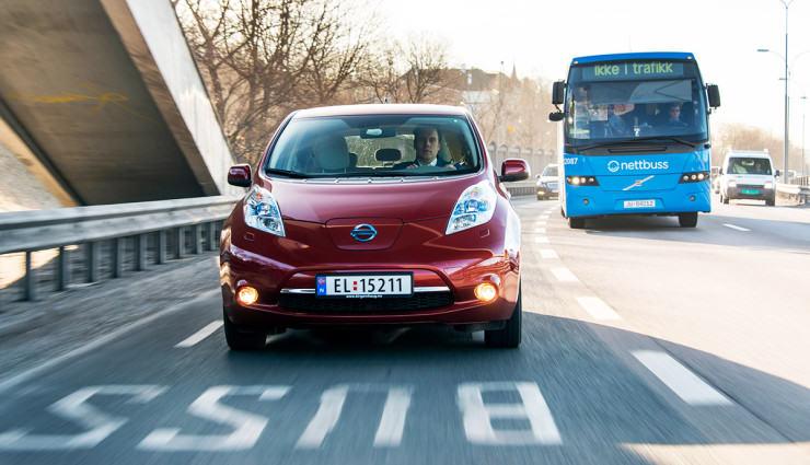 norway-electric-car-oslo-bus-lane-740x425