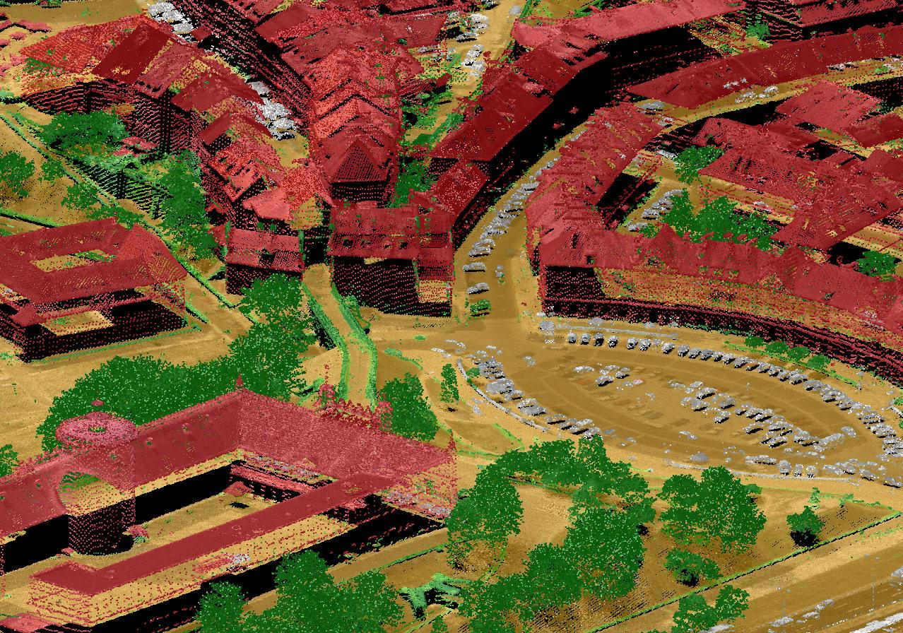 Sklasyfikowana Chmura Punktow - 3D / Źródło: MGGP Areo