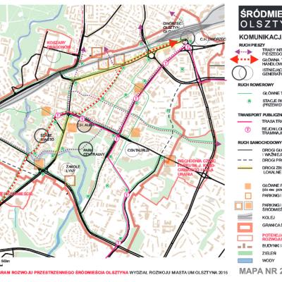 Zintegrowany Program Rozwoju Przestrzennego Srodmiescia Olsztyna mapa 2
