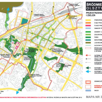 Zintegrowany Program Rozwoju Przestrzennego Srodmiescia Olsztyna mapa 3