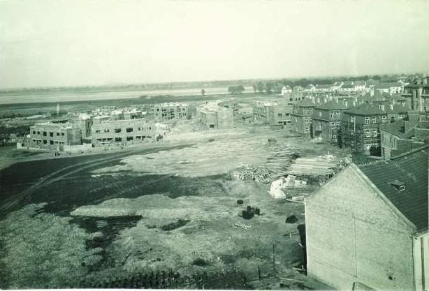 Warszawa, budowa osiedla na Żoliborzu, fotograf nieznany, ok. 1925; źródło: MNW