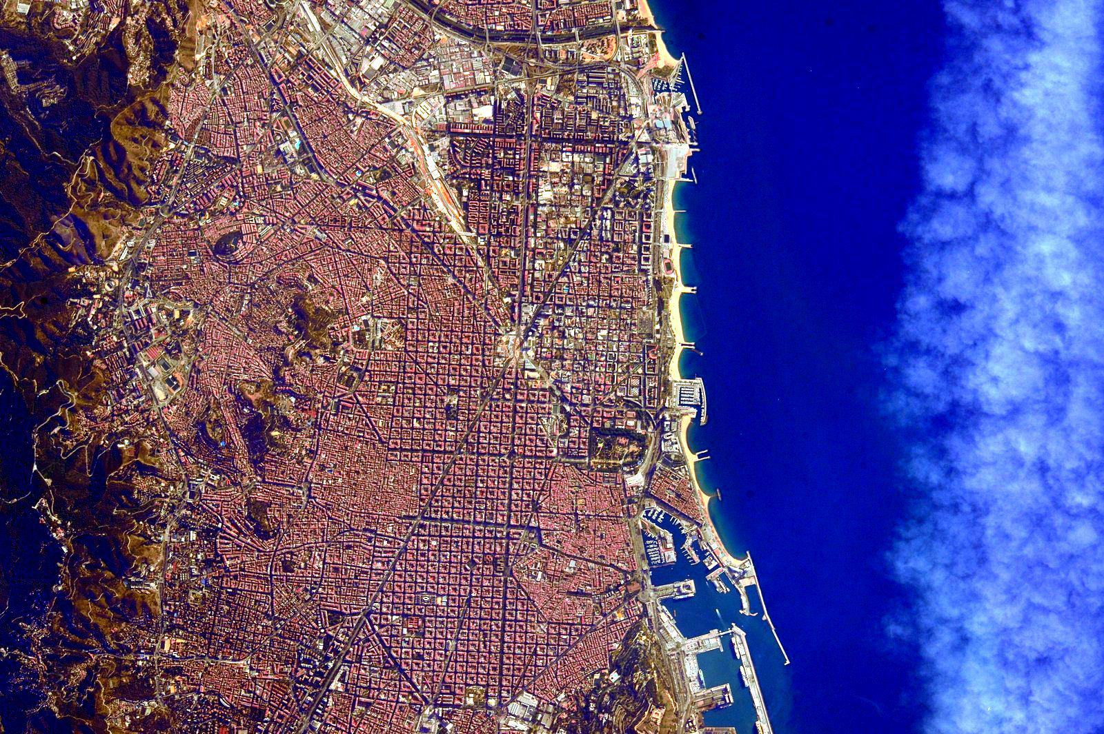 Barcelona from space