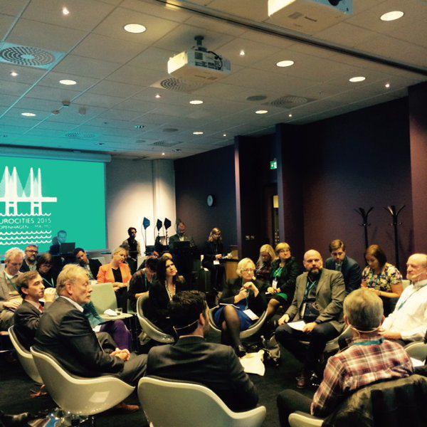 Debata o transporcie podczas konferencji Eurocities 2015 (twitter/eurocities)