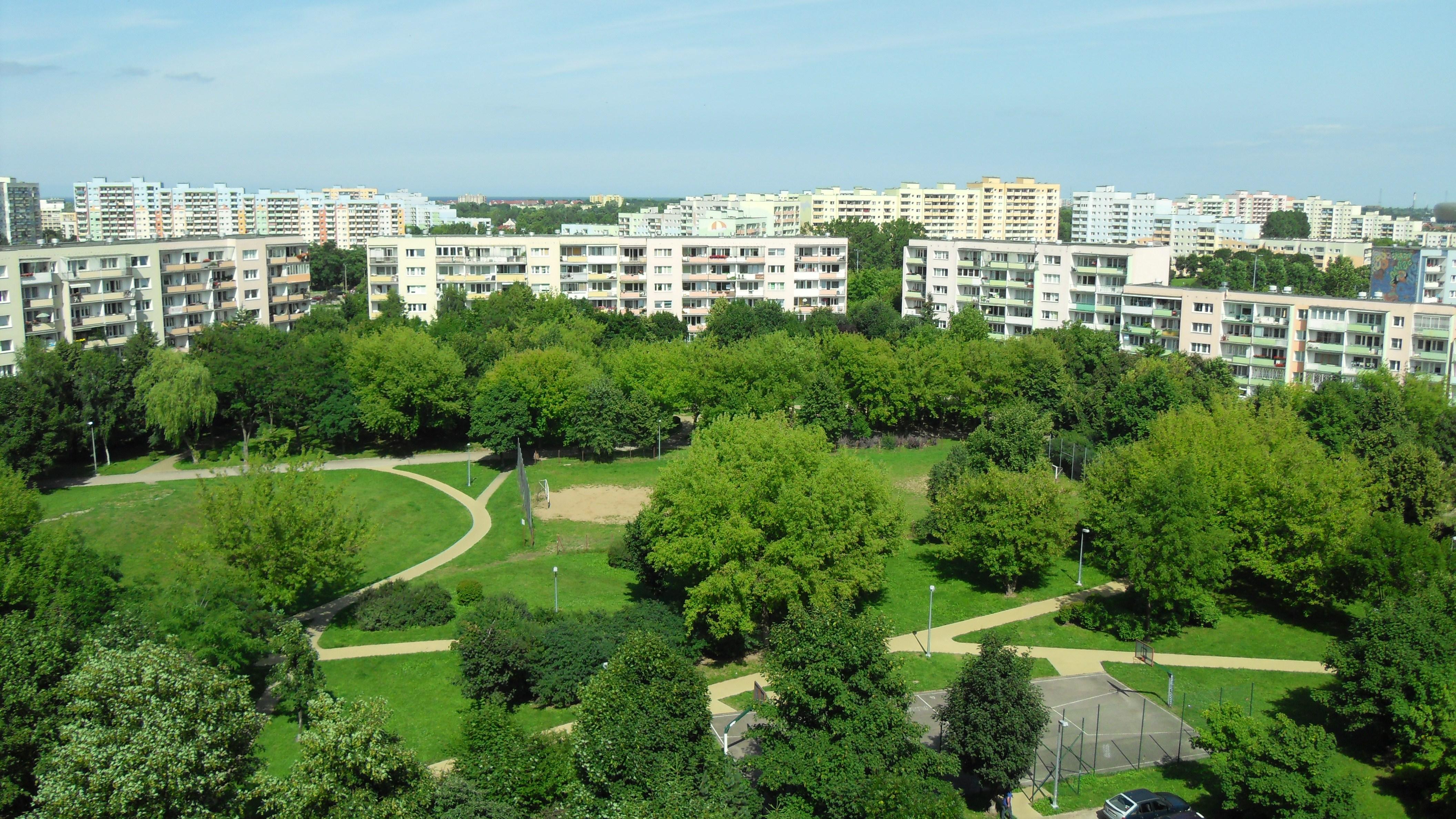 Zaspa Młyniec, wnętrze urbanistyczne / fot. Artur Andrzej (Wikimedia Commons) / lic. CC-BY-3.0Q
