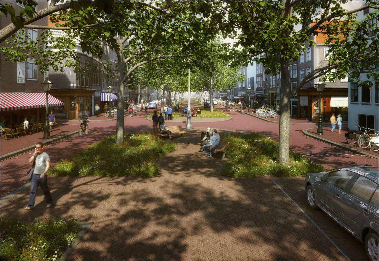 Tak może wyglądać Elandsgracht, wizualizacja: trazar.nl