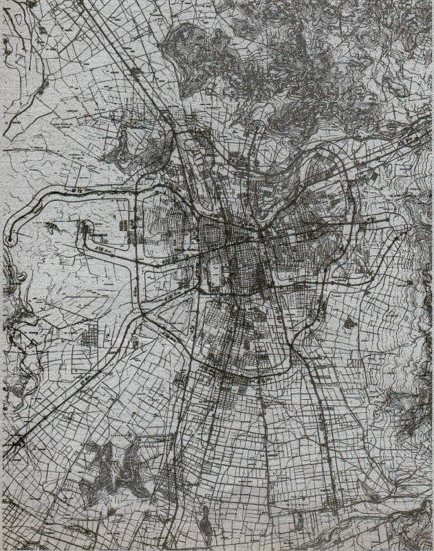 Rozlew zabudowy Santiago w latach 60-tych; CC-BY-3.0