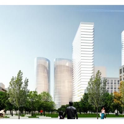 +48 architektura - Widok parku w strone towarowej