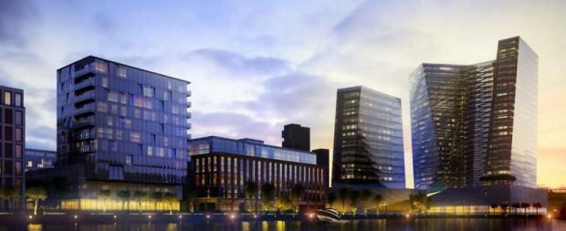 Tak według pierwszych wizualizacji mógłby wyglądać budynek (najwyższy z zaprezentowanych) | źródło: materiały prasowe