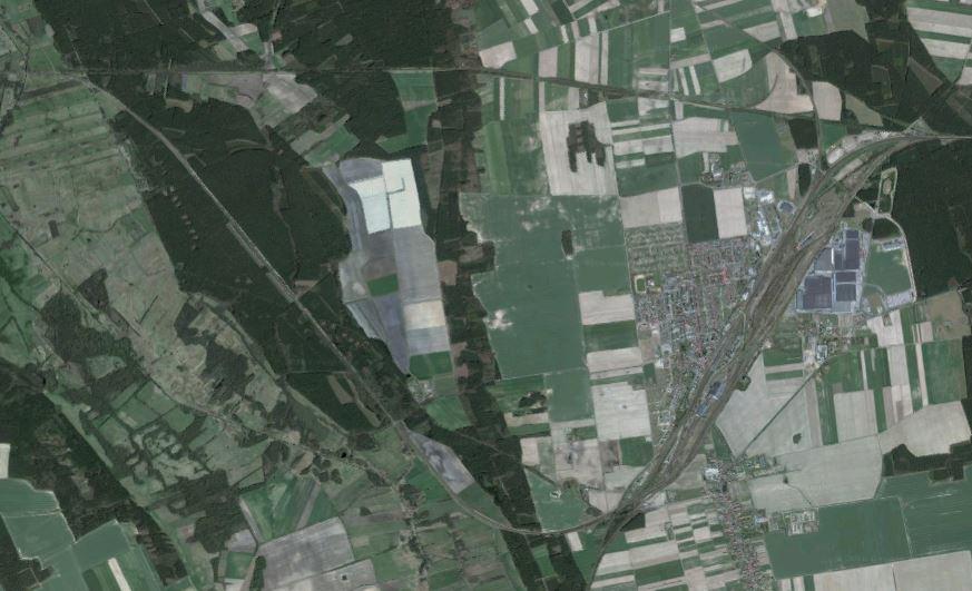 Okolice Zbąszynka na zdjęciu satelitarnym / źródło: Google Maps