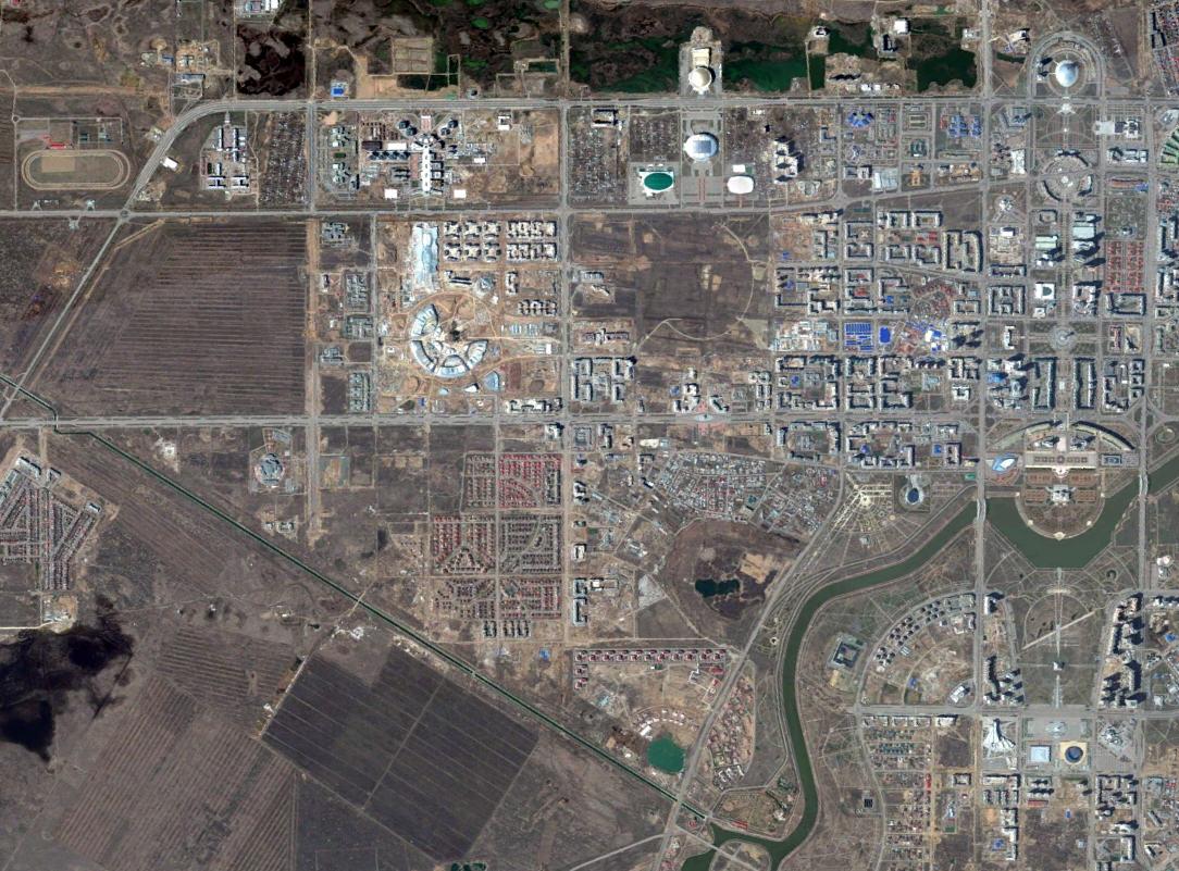 Dzielnica Yesil | fot. Digital Globe / Google Earth