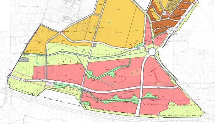 Wycinek miejscowego planu zagospodarowania przestrzennego Kliny Południe