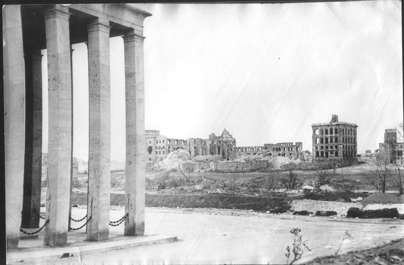 Zamek Królewiecki w 1950